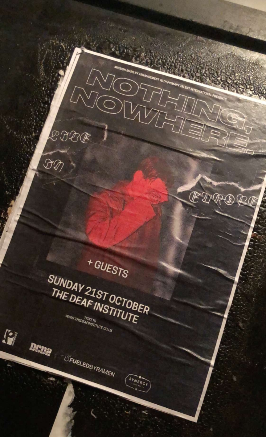 REVIEW: nothing, nowhere. At Manchester Deaf Institute 21/10/18